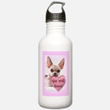 Get Well soon chihuahua dog Water Bottle