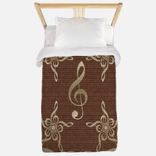 Treble Clef Star Music Original Twin Duvet