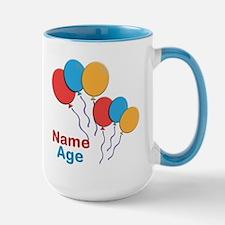 CUSTOMIZE Happy Birthday Any Age Lg Mug - Center