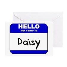 hello my name is daisy  Greeting Cards (Package of