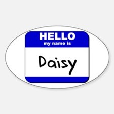 hello my name is daisy Oval Decal
