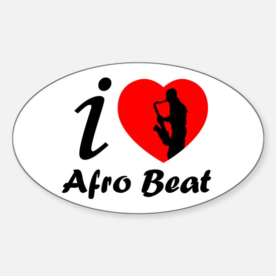 I love Afro beat Oval Bumper Stickers
