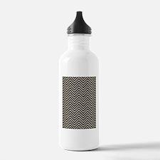 Beige and Black Chevro Water Bottle