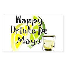 Drinko De Mayo Rectangle Decal