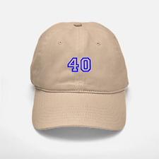 NUMBER 40 Baseball Baseball Cap
