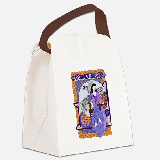 Cobalt Corbie Queen Canvas Lunch Bag