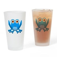 blue frog Drinking Glass