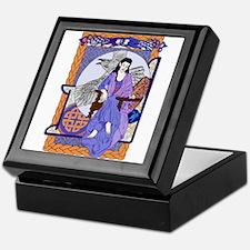 Cobalt Corbie Queen Keepsake Box