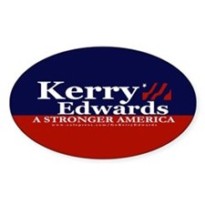Kerry Edwards Oval Decal