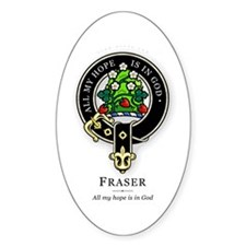 Clan Fraser Oval Decal