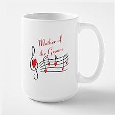 Mother Of Groom Music Notes Mug