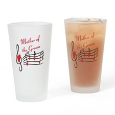 Mother Of Groom Music Notes Drinking Glass