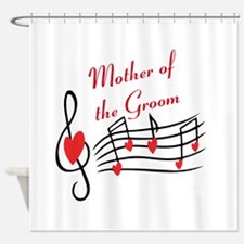 Mother Of Groom Music Notes Shower Curtain