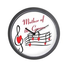 Mother Of Groom Music Notes Wall Clock