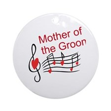 Mother Of Groom Music Notes Ornament (Round)