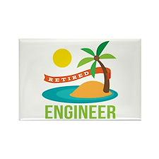 Retired Engineer Rectangle Magnet