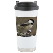Black- Capped Chickadee Travel Coffee Mug
