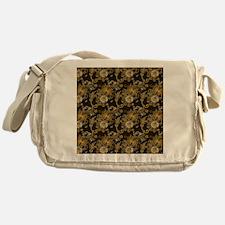 Gold and Brown Paisley Messenger Bag
