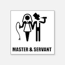 "Master & Servant (Wedding) Square Sticker 3"" x 3"""