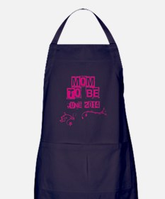 MOM TO BE JUNE 2014 Apron (dark)