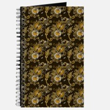 Gold and Brown Paisley Journal