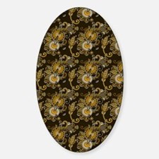 Gold and Brown Paisley Decal