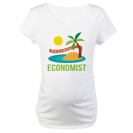 Retired Economist Maternity T-Shirt