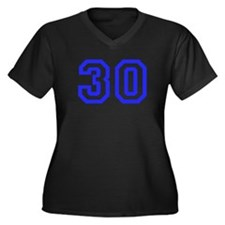 #30 Women's Plus Size V-Neck Dark T-Shirt