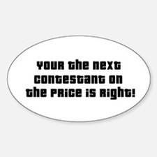 Price Is Right Oval Decal