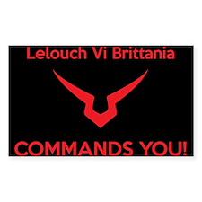 Lelouch COMMANDS (blck bckrnd) Decal