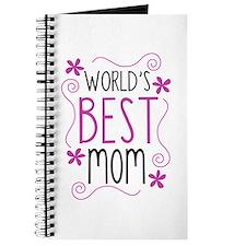 Cute Flowery Worlds Best Mom Journal