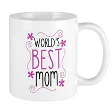 Cute Flowery Worlds Best Mom Mugs