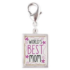 Cute Flowery Worlds Best Mom Charms