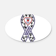 Rescue_Ribbon_Magnet.jpg Oval Car Magnet