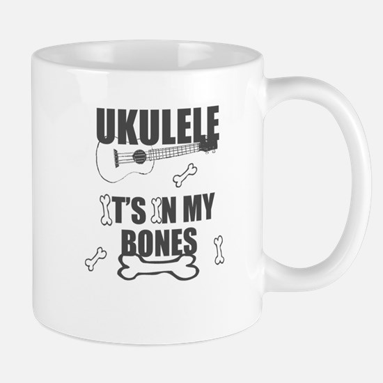 Funny Uke Bones Mugs