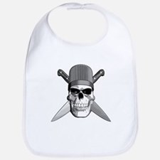 Skull Chef Knives Bib