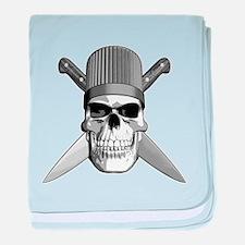 Skull Chef Knives baby blanket