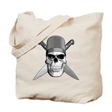 Skull Chef Knives Tote Bag
