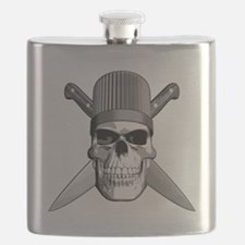 Skull Chef Knives Flask