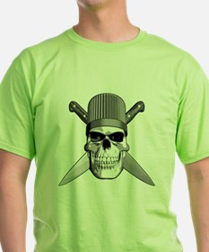 Skull Chef Knives T-Shirt