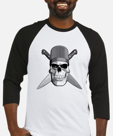 Skull Chef Knives Baseball Jersey