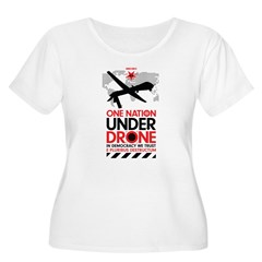 One Nation Under Drone Plus Size T-Shirt