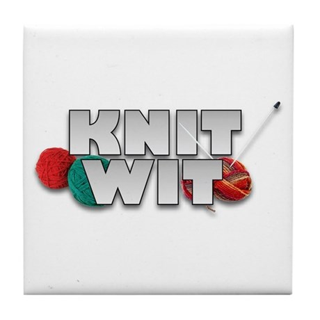 Knit Wit Knitter Tile Coaster