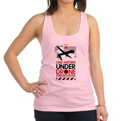 One Nation Under Drone Racerback Tank Top