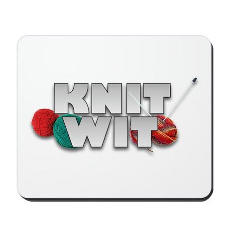 Knit Wit Knitter Mousepad