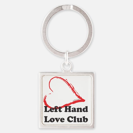 Left Hand Love Club Square Keychain