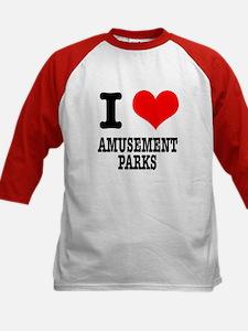 I Heart (Love) Amusement Parks Tee