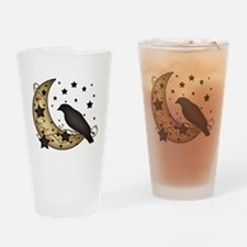 Crow on the Moon Drinking Glass