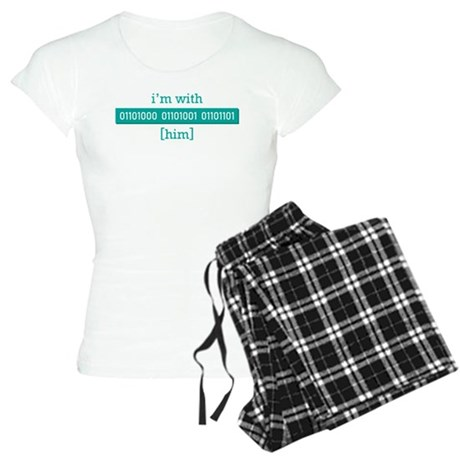 I'm With Him (Binary) Women's Light Pajamas