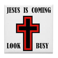 JESUS IS COMING Tile Coaster
